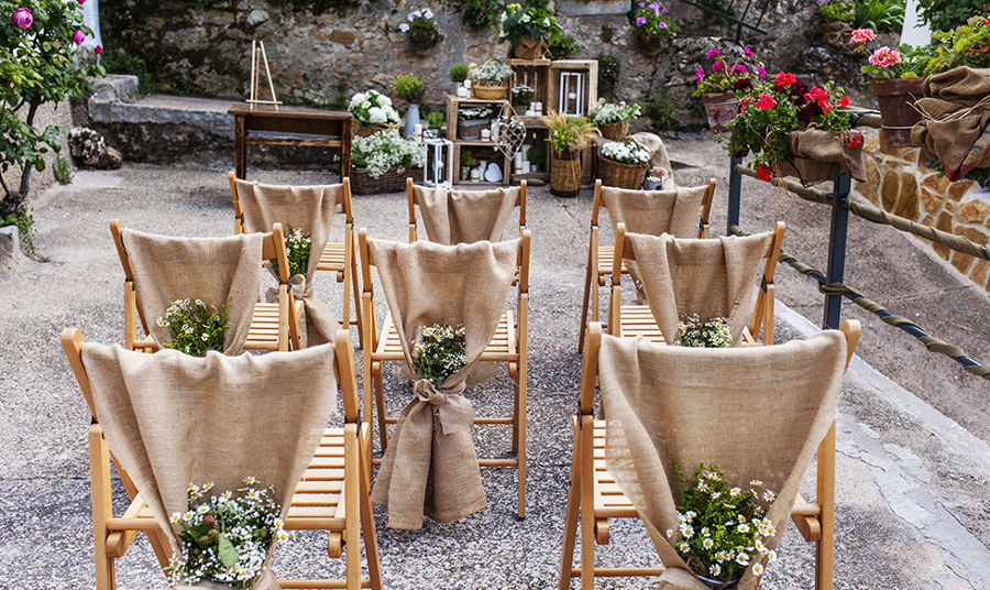 sillas decoradas rústicas