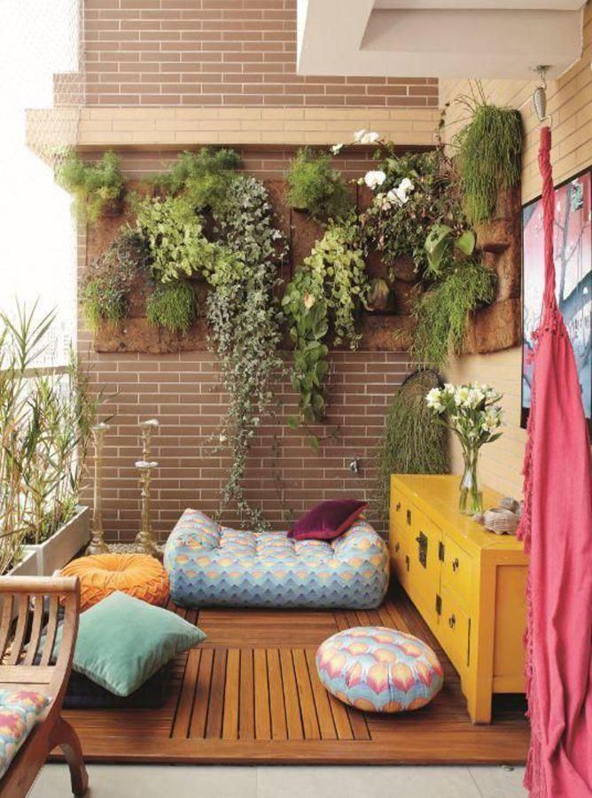 Jardín vertical en terraza