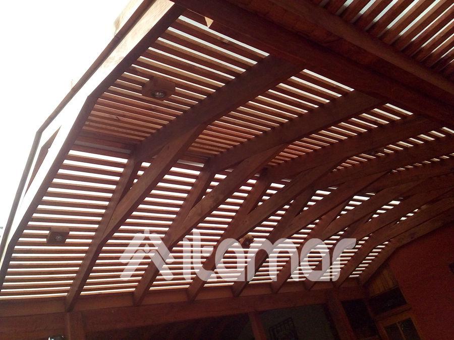 Techo dos aguas en madera nativa ideas remodelaci n casa for Casas con techo a un agua