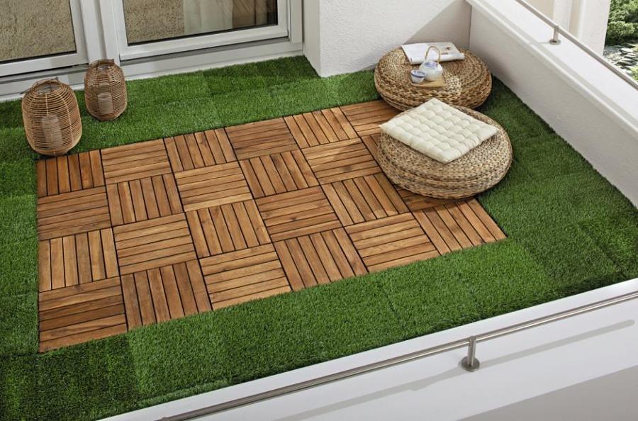terraza cesped artificial diseo - Terrazas Con Cesped Artificial
