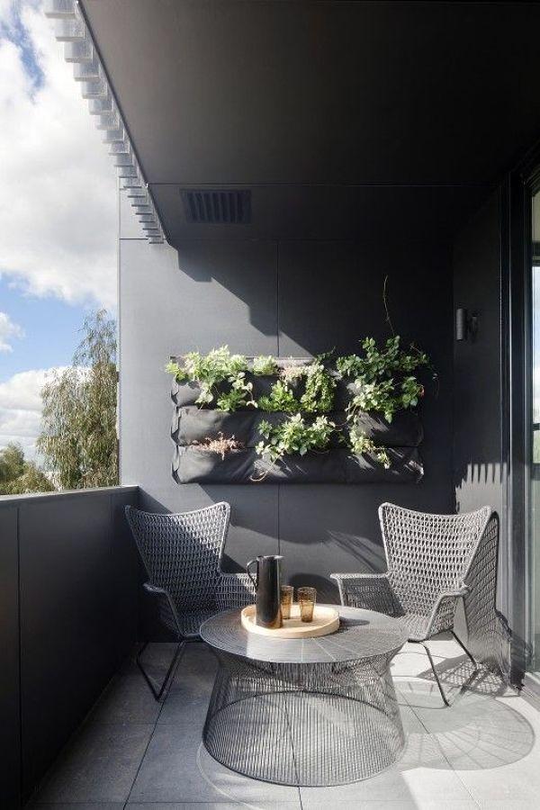 Balcón con estilo moderno