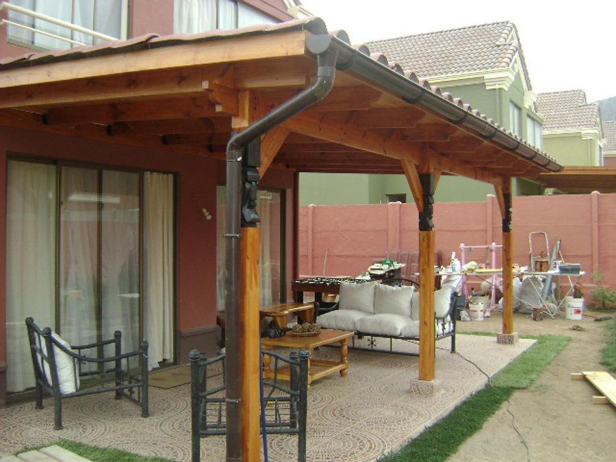 Trabajos en madera y otros ideas carpinteros for Techos de tejas para patios exteriores