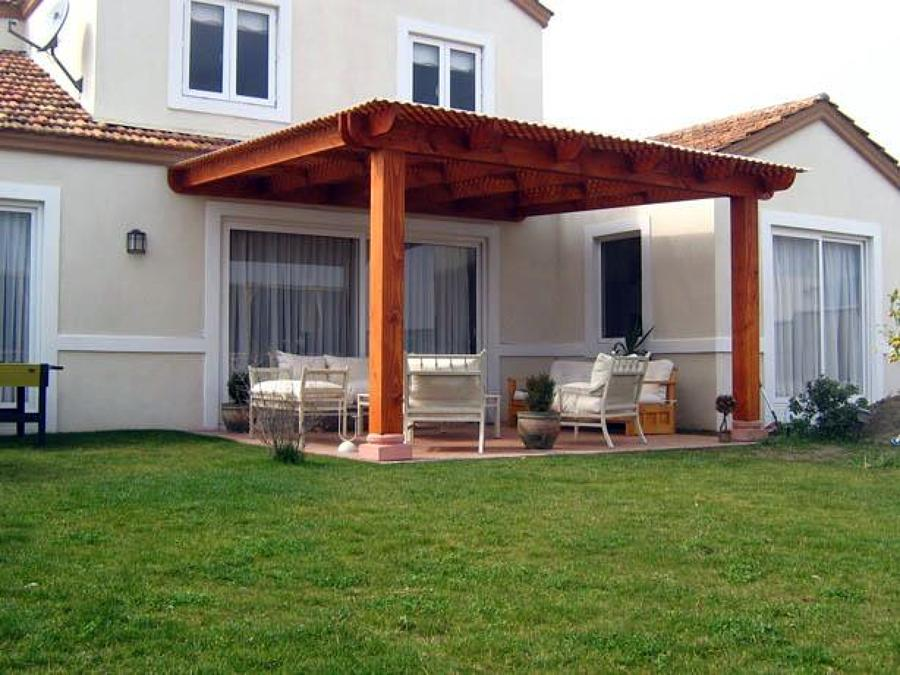 Techos para terraza techos de madera car interior design - Terrazas con pergolas ...