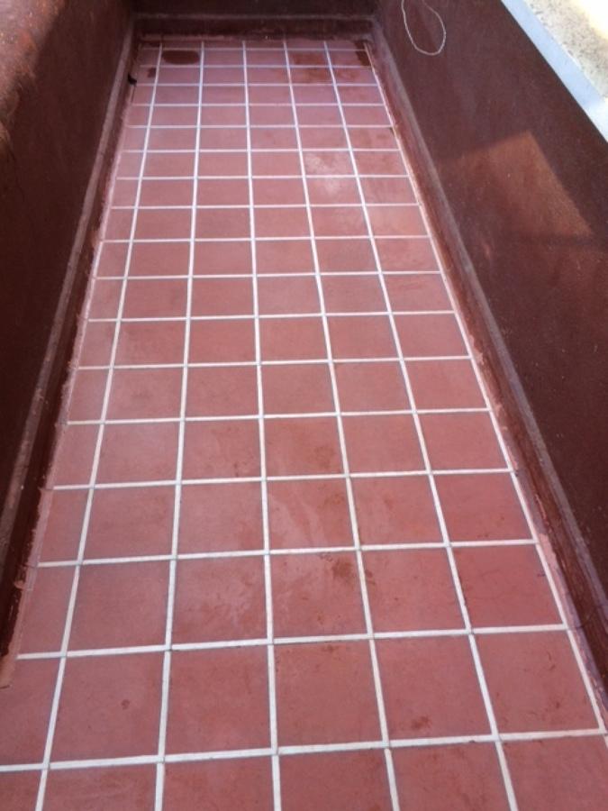 trabajo de terraza piso restaurado