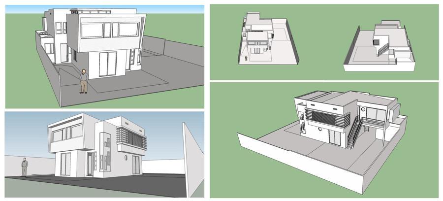 Varias vistas 3D Proyecto de Arquitectura