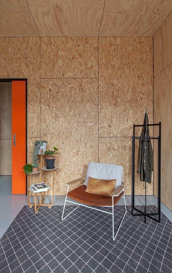 Virutas madera pared