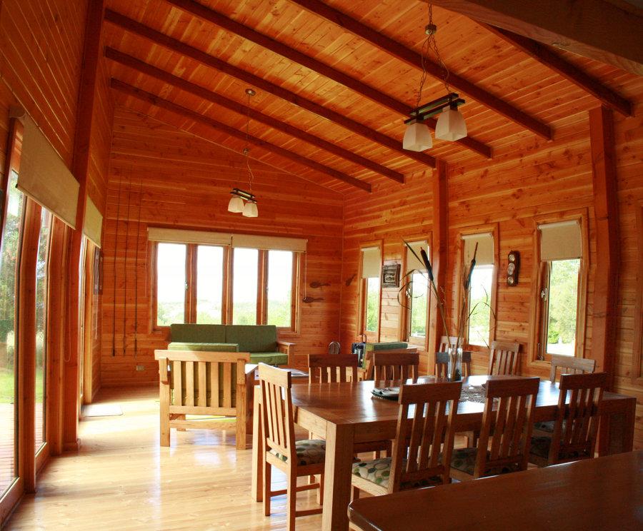 Vista interior. Living comedor