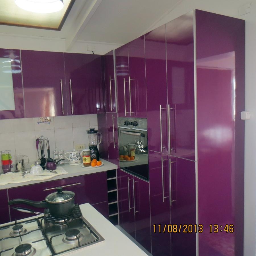 Cocina minimalista color berenjena ideas remodelaci n cocina - Cocinas color berenjena ...