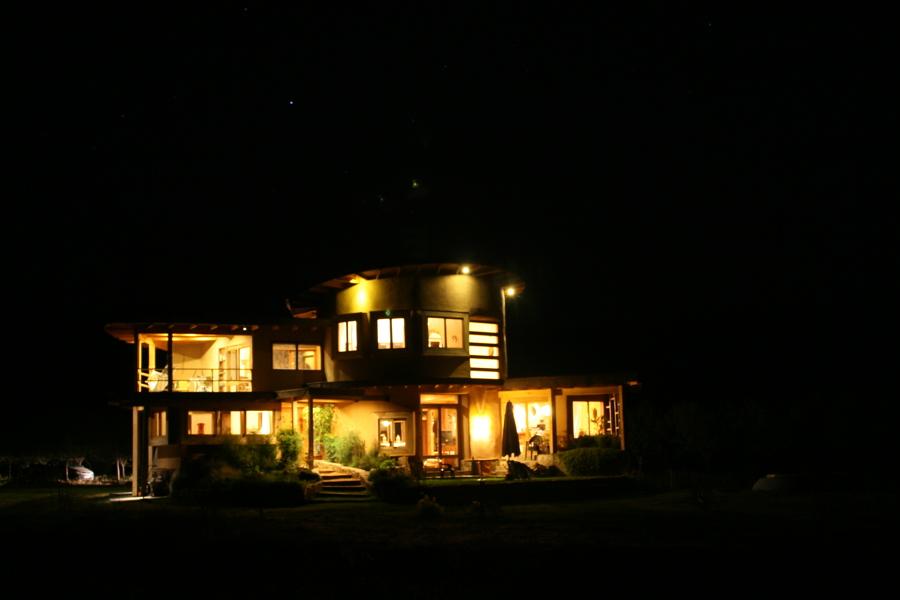 Vista nocturna Norte