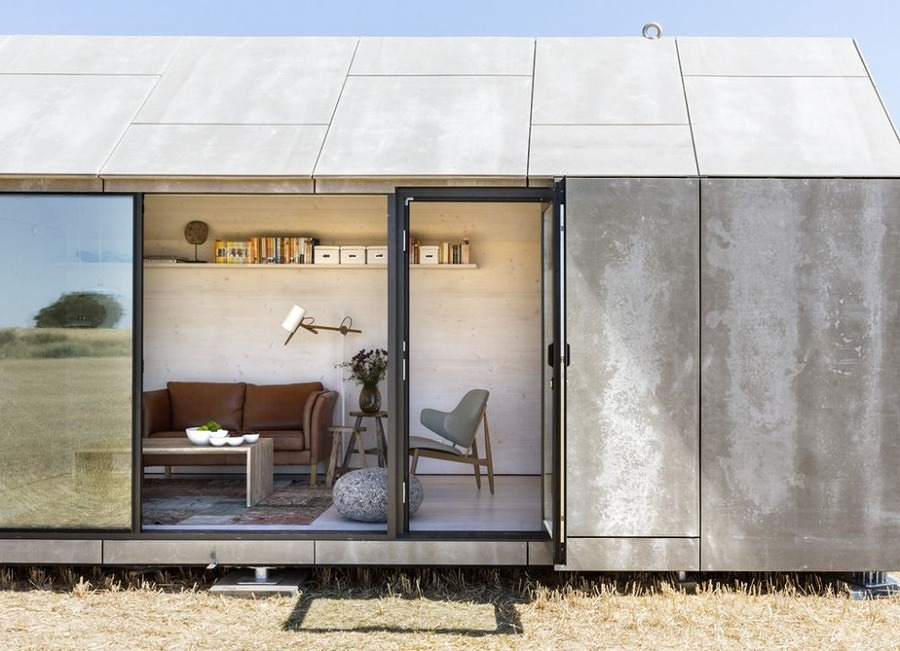 vivienda prefabricada abierta