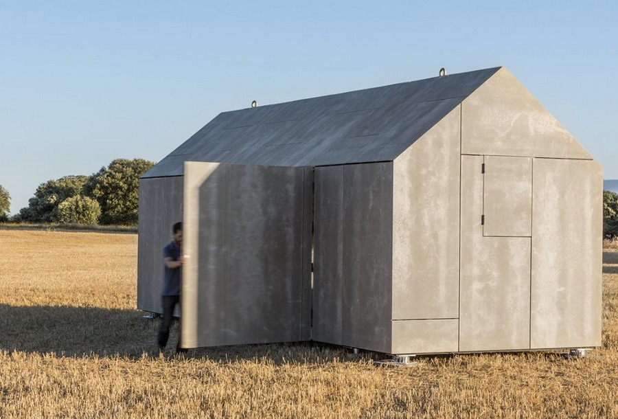 vivienda prefabricada con apertura