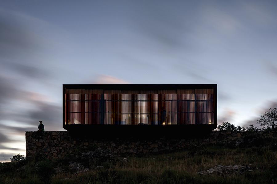 vivienda prefabricada fachada de lamas