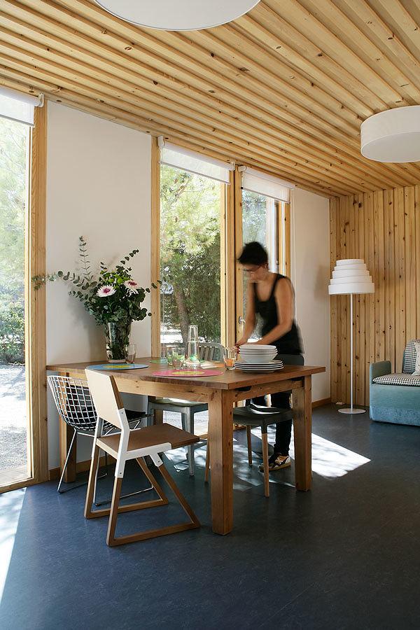 Vivienda prefabricada revestimiento de madera