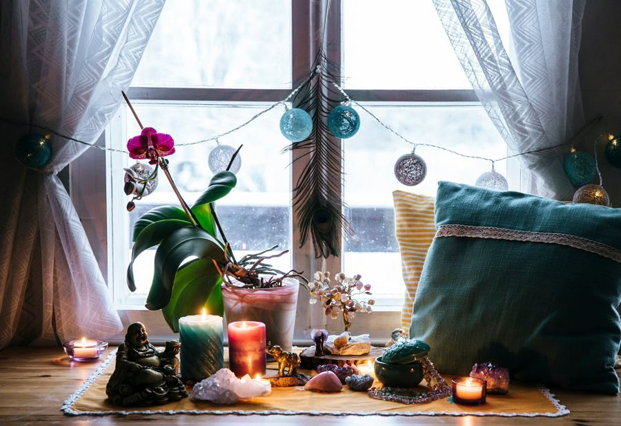 Zona de meditación en casa