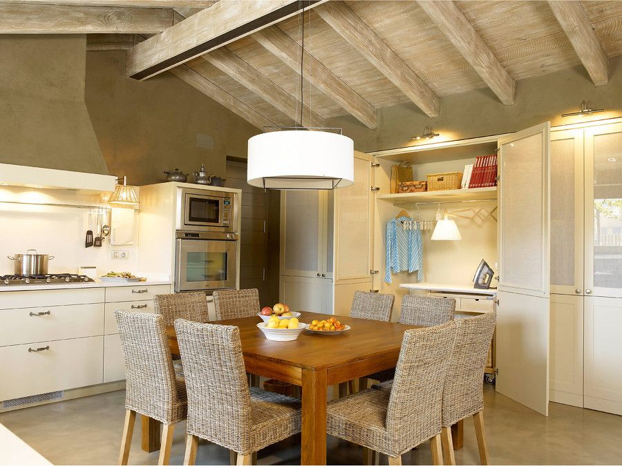 Loggia oculta en cocina