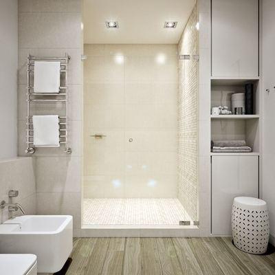baño con suelo vinilico