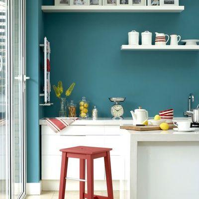Cocina pintada con pintura lavable