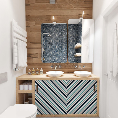 baño con solucion de almacenaje