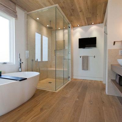 ¿Pisos de madera en el baño? ¡Sí!