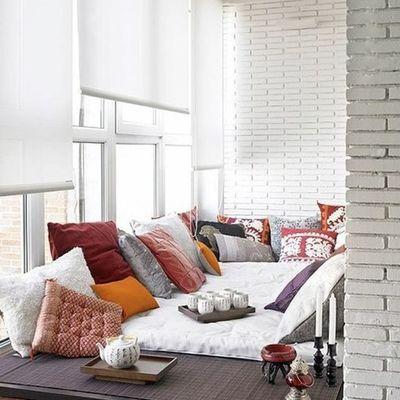 terraza con cojines