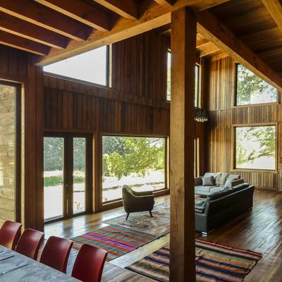 Una casa de madera que te dejará con la boca abierta