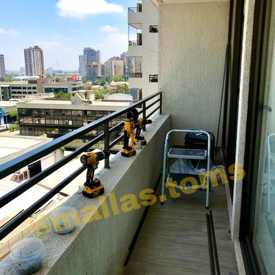 Seguridad en balcón de Santiago Centro