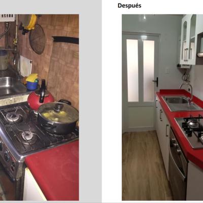 Antes y después de una remodelación de cocina a medida