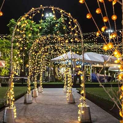 arco iluminado boda