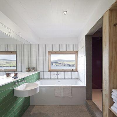 Baño en casa prefabricada
