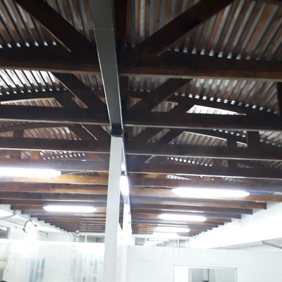 Restauración e iluminaciòn de techo empalizado