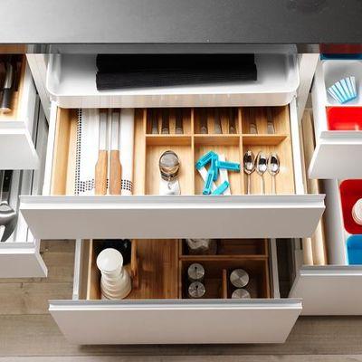 Cajones en una cocina
