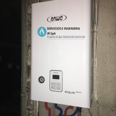 Instalación sistema central de calefacción. Ubicación: Mardoñal-Las Condes