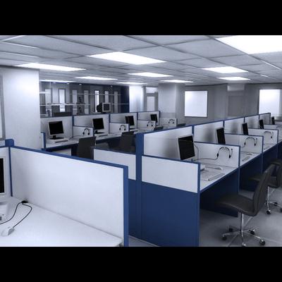 Proyecto de Layout y Diseño de Mobiliario - Call Center Samsung