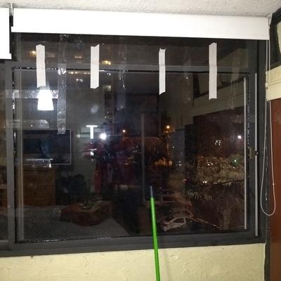 Cambio de vidrio en depto de Ñuñoa