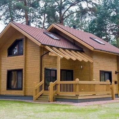 Contruccion de Casa en el Bosque