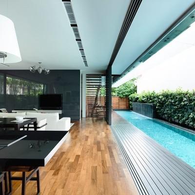 Precio piscina interior online habitissimo for Casas modernas con piscina interior