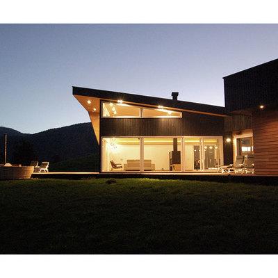 Casa en el Lago Rupanco- Vista noche