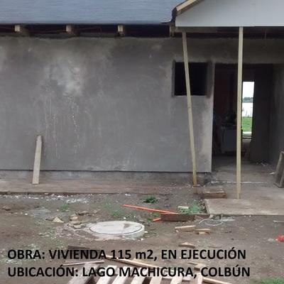 Diseño y Construcción, vivienda comuna de Colbún, Lago Machicura