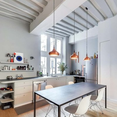cocinas-con-viga-en-techo