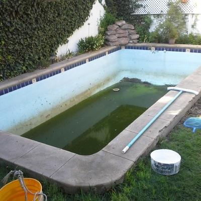 Restauración de piscina.