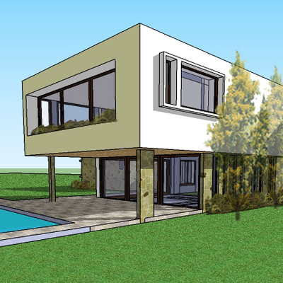 Construcción Casa Estilo Mediterranea Pirque