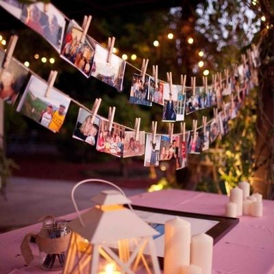 decorar bodas con fotos