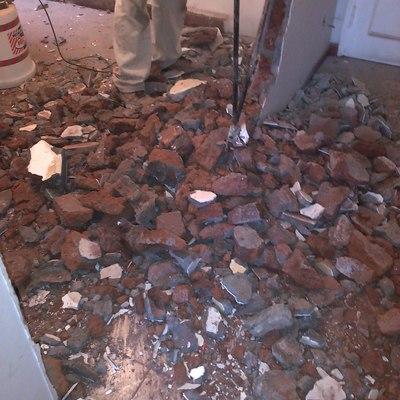 Demolicion de muro acceso
