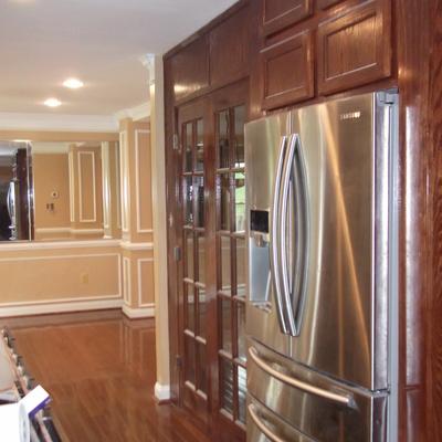 remodelacion area despensa o pantry, antes/despues Maryland EEUU
