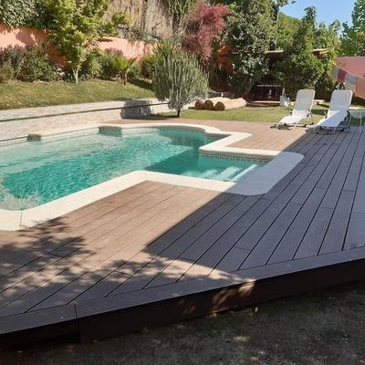 Deck - Revestimiento muro - Piscina y Fulget