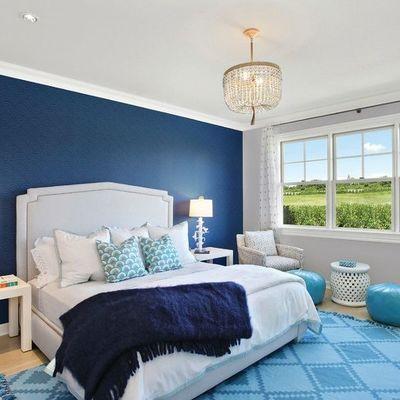 Dormitorio clásico en azul