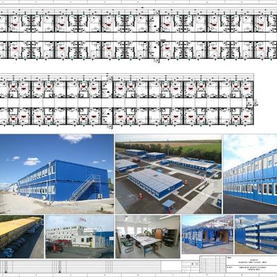 Edificio Modular Container - Pabellón Habitacional.