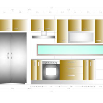 Diseño Cocina 20M2