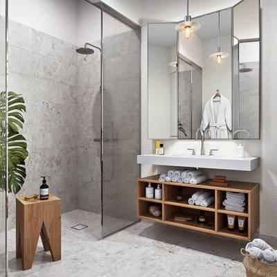 Ideas y fotos de mobiliario ba o para inspirarte habitissimo for Espejo grande pared