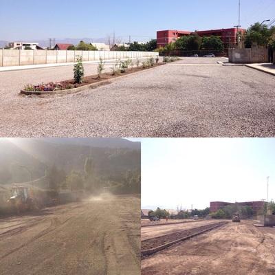 Construcción estacionamiento Clínica Río Blanco, Codelco, Los Andes
